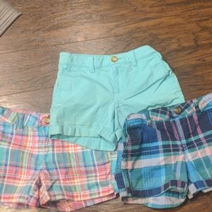 3 pairs of girl's size 10 So shorts.